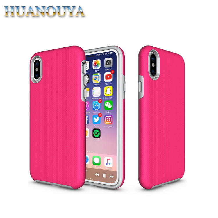 New design colorful custom phone case for iPhone X TPU+PC back cover matte