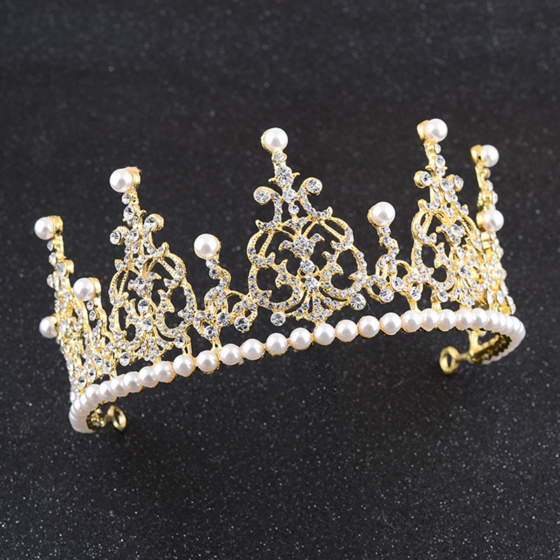 New design pearl pageant <strong>crown</strong> for wedding