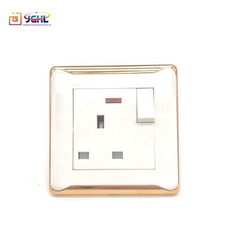 British Style 3 Pin 13A Luxury Electric Wall Socket And Switch