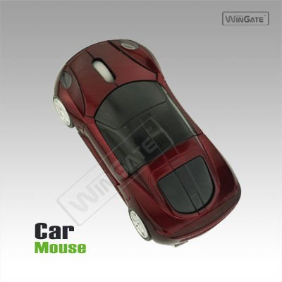 Car Shape USB Optical Hi Speed Mouse Purple for Laptop
