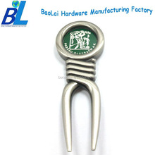 2014 custom logo golf divot pitch repair tool and golf ball markers