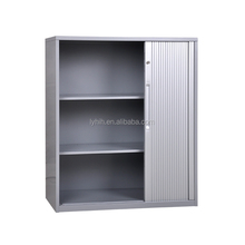 small rolling shutter door metal filing storage cabinet on wheels