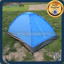 Lightweight Single Layer Custom Print Logo Outdoor Folding Bed Camping Tent