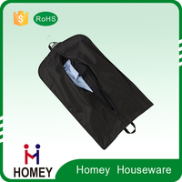 Transparent clear plastic suit garment cover bag with zipper