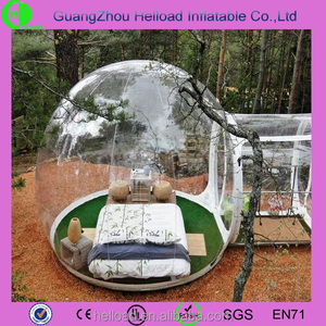 beautiful inflatable bubble camping tent/ transparent clear tent plastic in hot sale