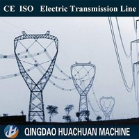 Electrical distribution power transmission line tower electric transmission tower for oil field