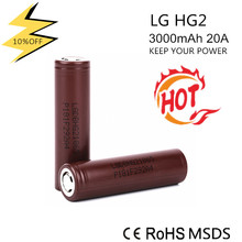 LG HG2 3.7v 3000mAh 18650 battery flashlight polymer lithium battery