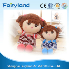 Online wholesale soft material babies plush toy beautiful stuffed doll for girls