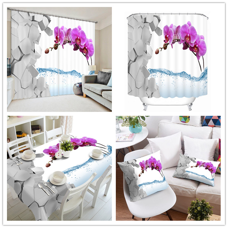 2017 Wholesale Light Romantic Style Latest Curtain Wall Set Designs Table Cover , Atmosphere Shower Window Curtain