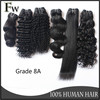 Alibaba China factory wholesale virgin remy brazilian human hair extension