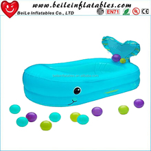 Little blue whale paddle children inflatable swimming pool and Inflatable whale spray pool for Garden game