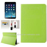 For ipad 5 leather case with Credit Card Slots & Mirror,leather Flip Stand Cover with Auto Wake/Sleep for ipad air