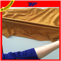 90% Polyester 10% Spandex 300GSM Good Tension Four Ways Stretch Suede Fabric