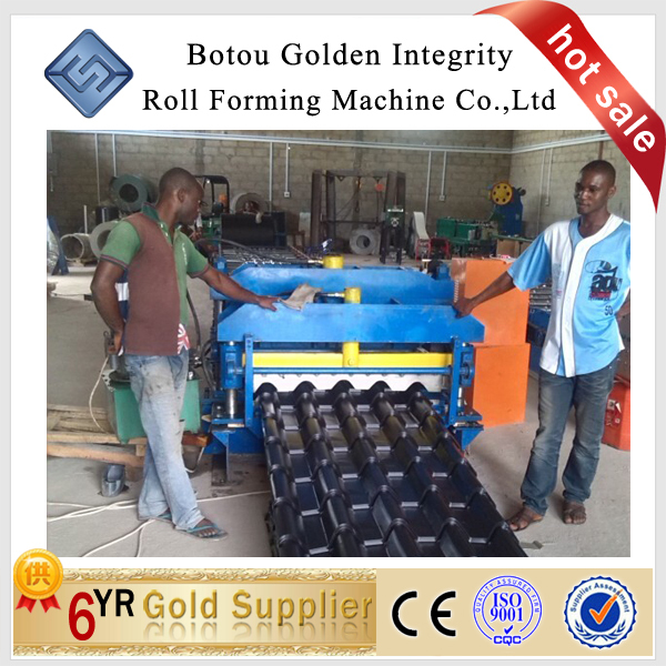 alibaba Glazed tile roll forming machine_step tile making machine for Nigeria