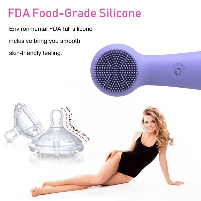 hot product 2020 electric handheld sonic wireless IPx7 waterproof face massager full silicone pore facial cleansing brush