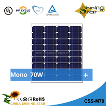 hot sale small mono solar module 70w solar panel 12v for 70w led work light