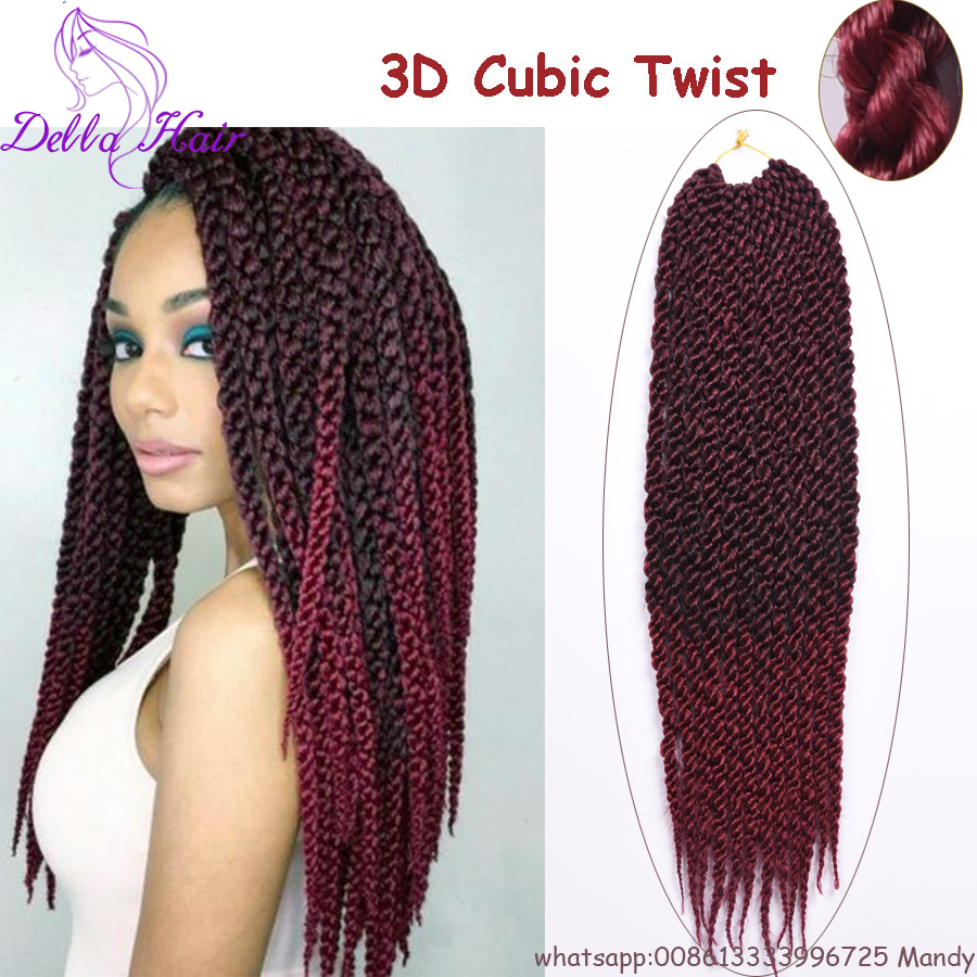 3d Cubic Twist Crochet Braids 18 12strandspack Crochet Braid Hair