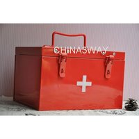 wholesale aluminium empty emergency case medical alloy metal first aid kit box