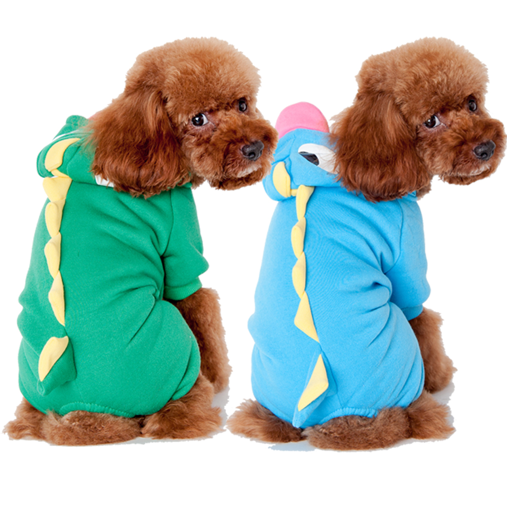Pet Hot Selling Products Green Dinosaur Cheap American Dog Clothes Apparel