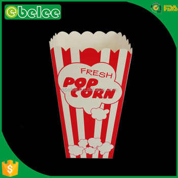 disposable paper popcorn box size