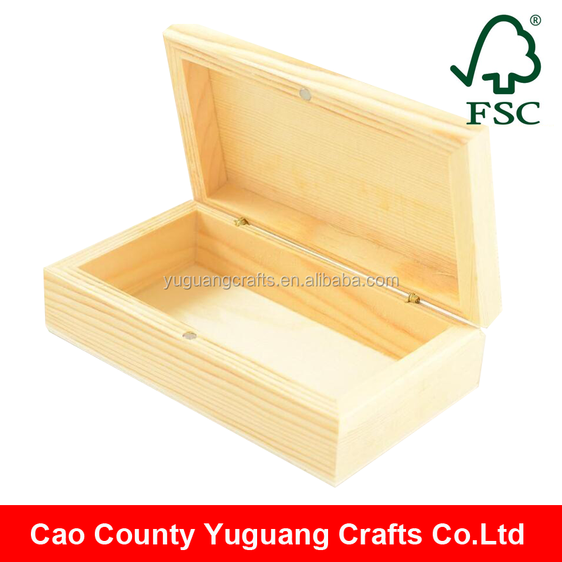 Yuguang Crafts Wholesale Unfinished Small Cheap Wooden Boxes With Magnet Lock