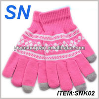 cheap wholesale winter Wool touchscreen texting gloves for iphone&ipad with 100%wool,best quality and samll MOQ