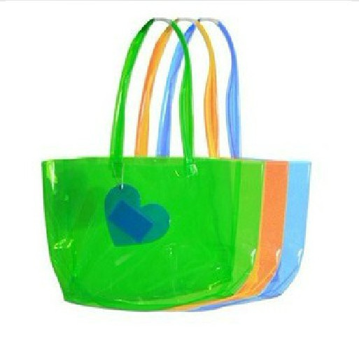 2015 new design Summer fashion clear pvc beach bag,waterproof outdoor beach bean hand bag (SD-BB-043)