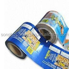 Plastic film roll for food / snack packaging film / film roll