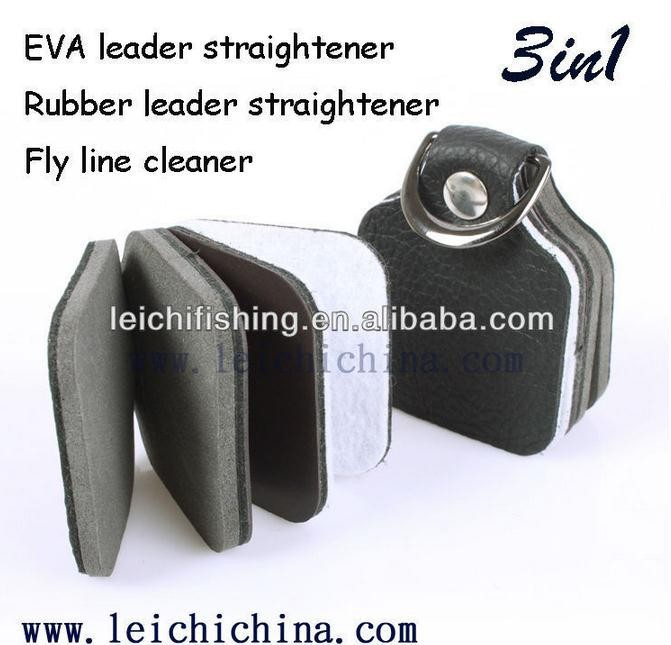 Wholesale EVA 3 in 1 leader strasightener fly line cleaner fly fishing tool