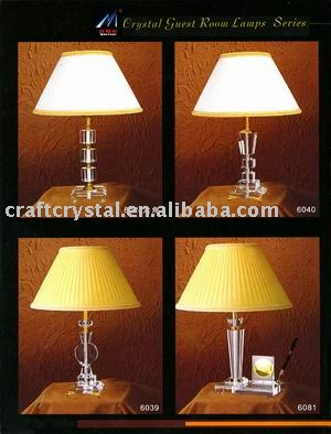 led hotel crystal table lamp