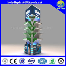 Floor corrugated cardboard display of point of purchase display stand for retailing
