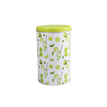 Factory promotional big round cylinder assorted biscuit tin for gift packing