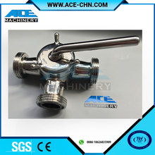 Wenzhou AISI304/316L Sanitary Three Way Plug Cock Valve