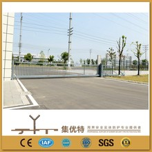 Automatic PVC coated and galvanized steel main entrance gate design