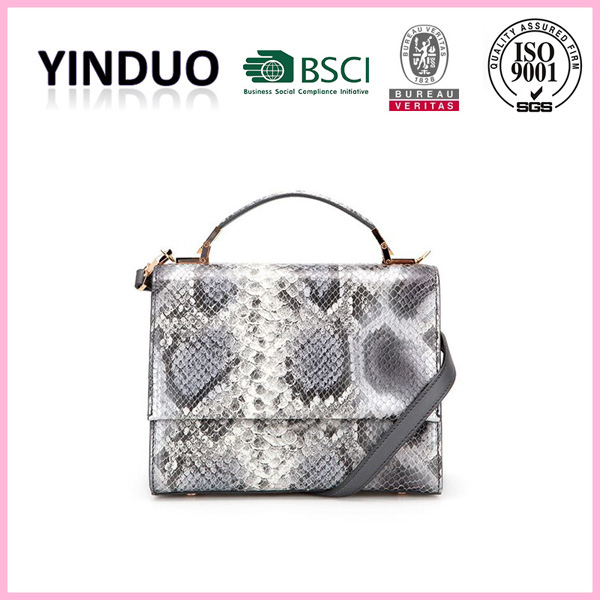 Women new style quality luxury fancy european name designer handmade snake skin tote handbag russian fashion bags brand handbags
