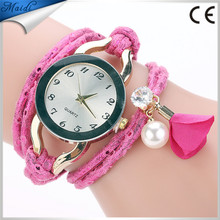 Creative Handmade Rope Bracelet Women Watches Knitted Colorful Quartz Casual Flower Ladies Dress Wristwatch WW138