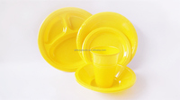 Fancy outdoor partyware/disposable plastic birthday tableware