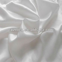 polyester white satin fabric for curtain