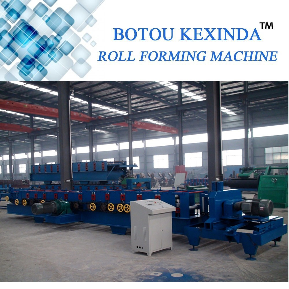 Galvanized Roof Truss Steel Purlin C Beam Cold Roll Forming Machine roll former hydraulic twisting type c profile press machine