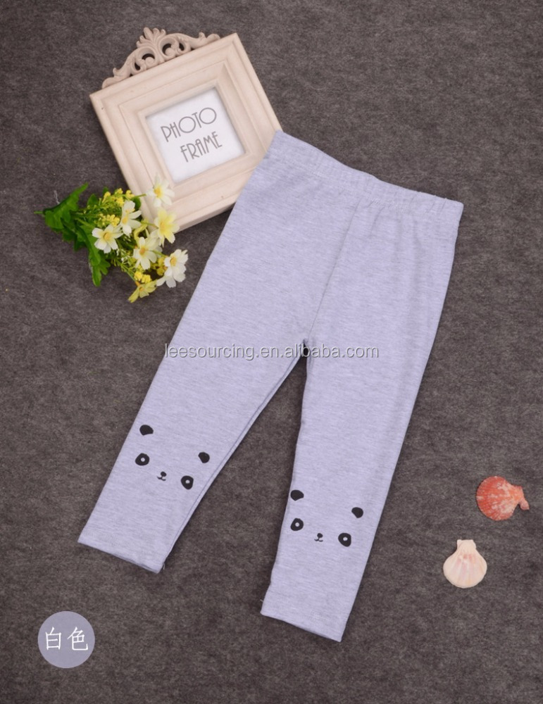 Fashion 100% cotton wholesale custom printing kids tights baby girls leggings