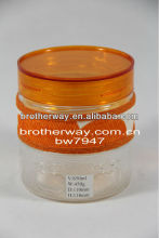 engraved glass jar, cylinder glass jar with plastic lid