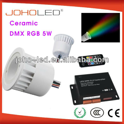 with synchronous and memory function 3w rgb cob spotlight/rgb led spotlight/led light rgb/dmx rgb led downlight
