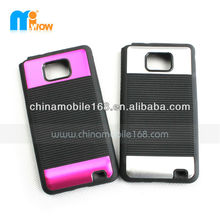 hot sell aluminum+PTU 2in1 protector case S2 cover for mobile phone SAMSUNG I9100 GALAXY SII