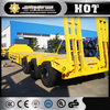 China 3 axles low bed trailer CIMC low bed trailer truck/flat bed trailer