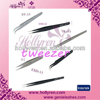 High Quality Stainless Steel Eyelash Extension Tweezers