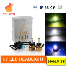 Auto Parts car led headlight set super bright Chip led light car headlight bulb H3 H4 H7 H8 H9 H11 9005