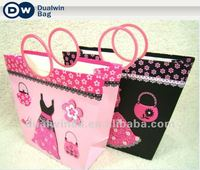 Most Fashion 2012 3D Cartoon Paper Shopping bag