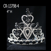 Cheap Wholesale Black Rhinestone pageant Tiaras And Crowns