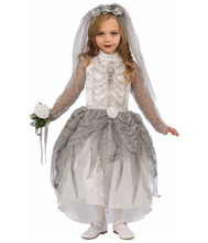 Halloween Popular White Bride Skeleton Girls Cospaly Costume