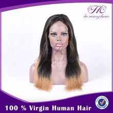 World best selling products two toned curly full WHOLE lace human hair wigs